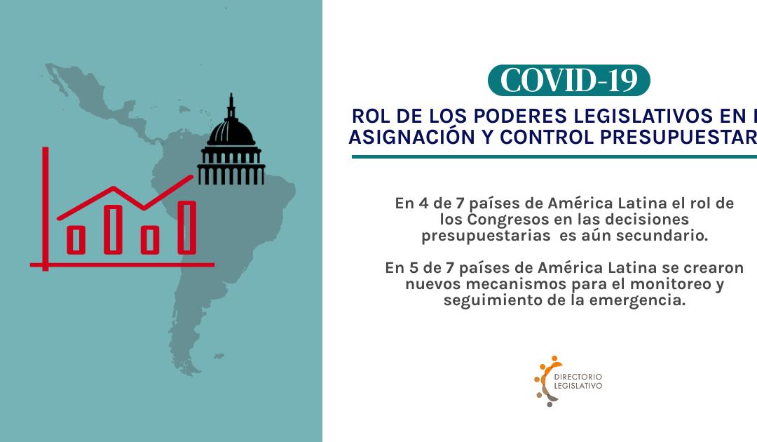 ROL DE LOS PODERES LEGISLATIVOS EN LA ASIGNACIÓN Y CONTROL PRESUPUESTARIO EN EL MARCO DE COVID-19