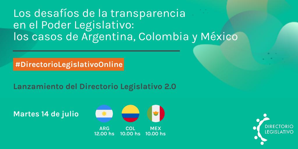 Los desafíos de la transparencia en el Poder Legislativo: los casos de Argentina, Colombia y México.